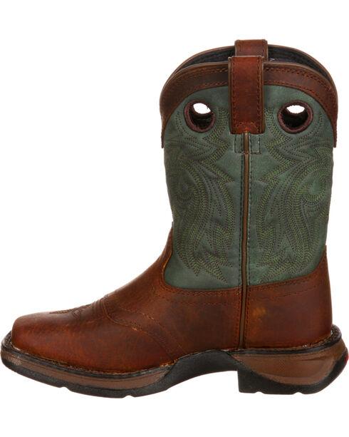 Durango Youth Saddle Western Boot, Dark Brown, hi-res