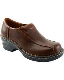 Eastland Women's Brown Tracie Slip-Ons , , hi-res