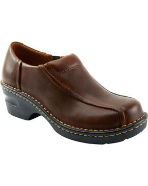 Eastland Women's Brown Tracie Slip-Ons , Brown, hi-res