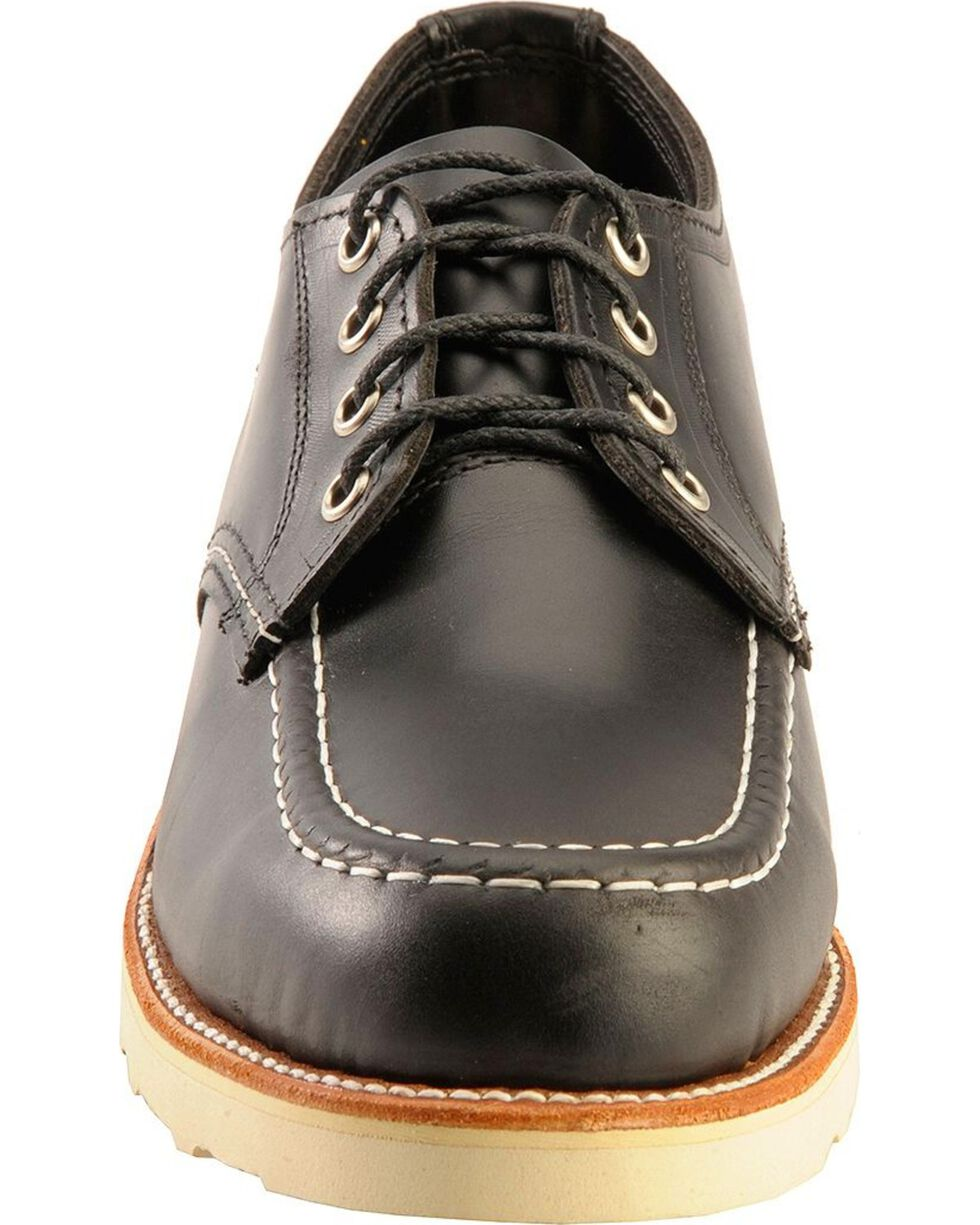 Chippewa Men's Moc Toe Oxford Shoes, Black, hi-res