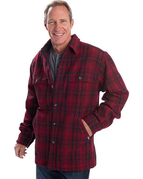 Woolrich Men's Wool Stag Shirt Jacket, Red, hi-res