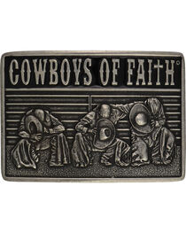 Kneeling Cowboy Men's Belt Buckle, , hi-res