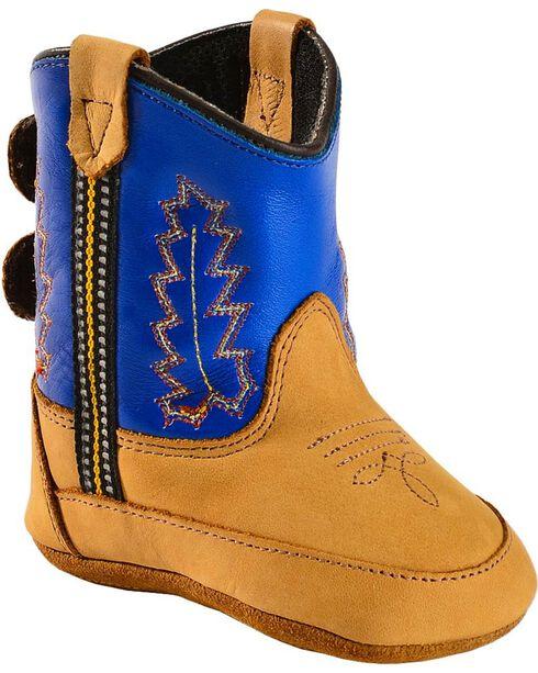 Jama Infant's Old West Poppets Western Booties, Blue, hi-res