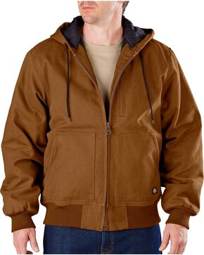 Dickies Sanded Duck Hooded Jacket, Brown Duck, hi-res