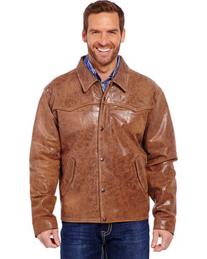 Cripple Creek Men's Hand Sanded Snap Front Jacket, Saddle Brown, hi-res