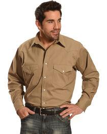 Crazy Cowboy Men's Long Sleeve Western Shirt - Big and Tall, , hi-res