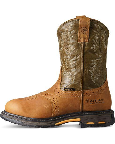 Ariat Men's Work-Hog Waterproof Composite Toe Work Boots, Aged Bark, hi-res