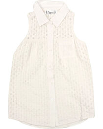 Shyanne® Girls' Sleeveless Lace Top, , hi-res