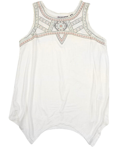Tempted Girls' Embroidered Tunic , Ivory, hi-res