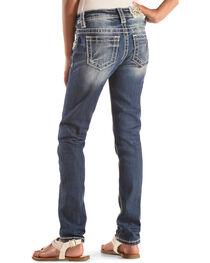 Miss Me Girls' Floral Pocket Jeans , , hi-res