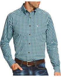 Ariat Men's Teal Pullman Long Sleeve Shirt , , hi-res