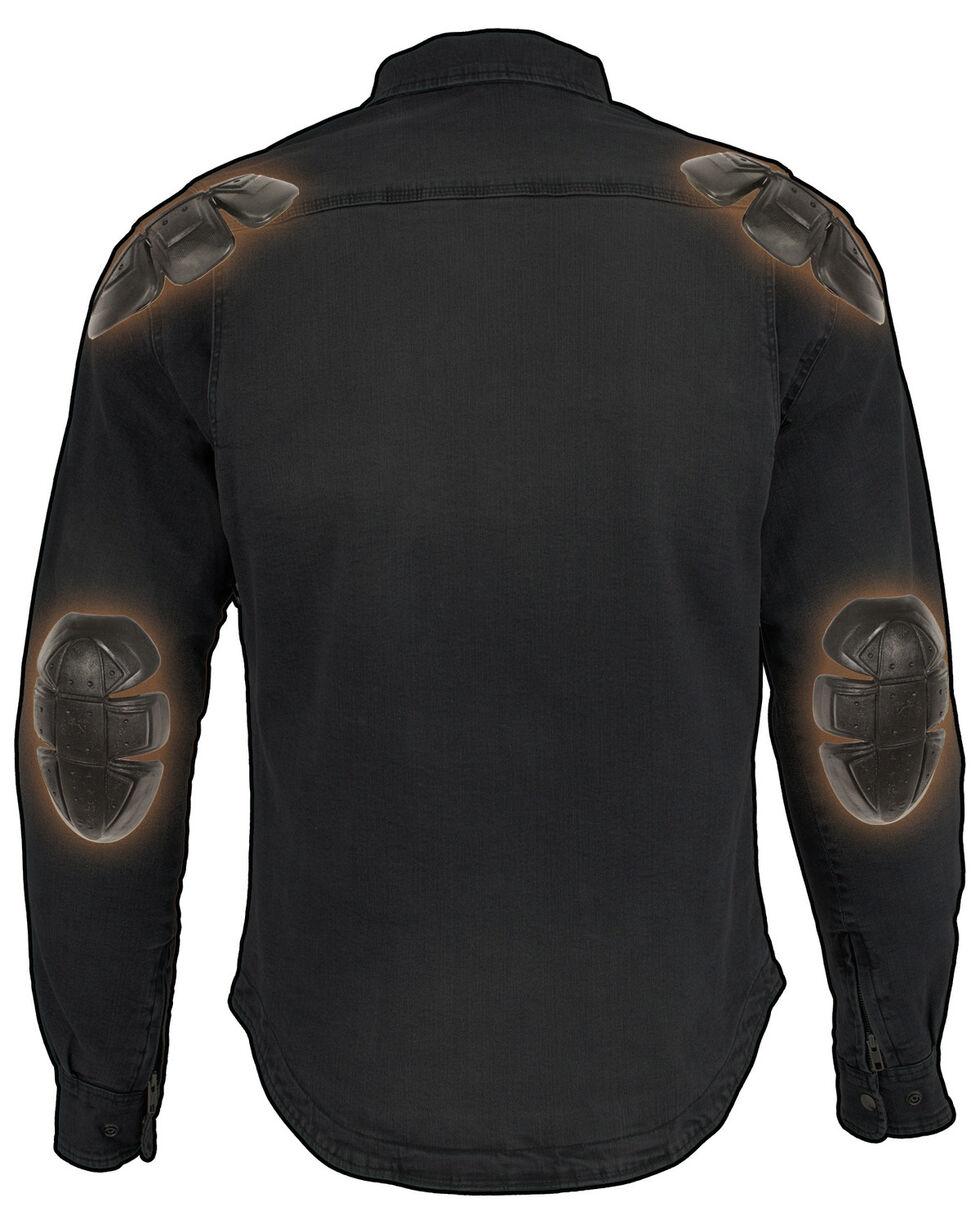 Milwaukee Performance Men's Aramid Reinforced Grey Denim Biker Shirt - 4X, Grey, hi-res