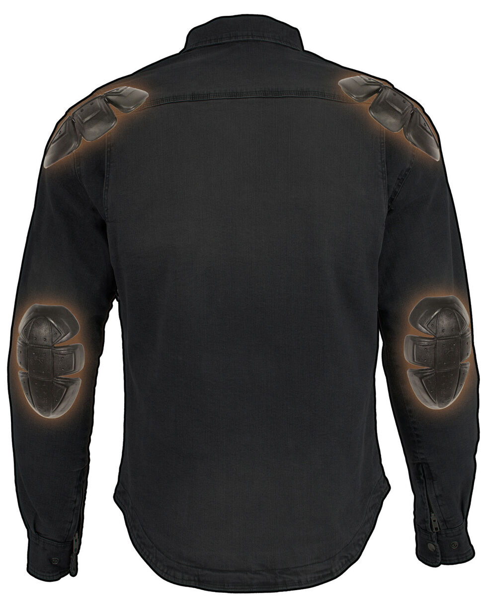 Milwaukee Performance Men's Aramid Reinforced Grey Denim Biker Shirt - 5X, Grey, hi-res