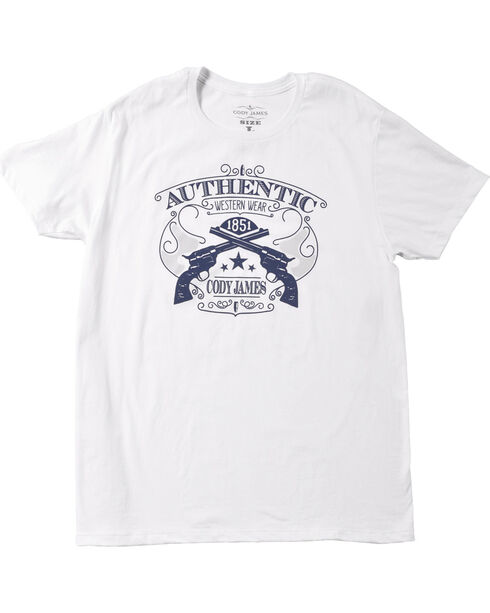 Cody James® Men's Authentic T-Shirt, White, hi-res