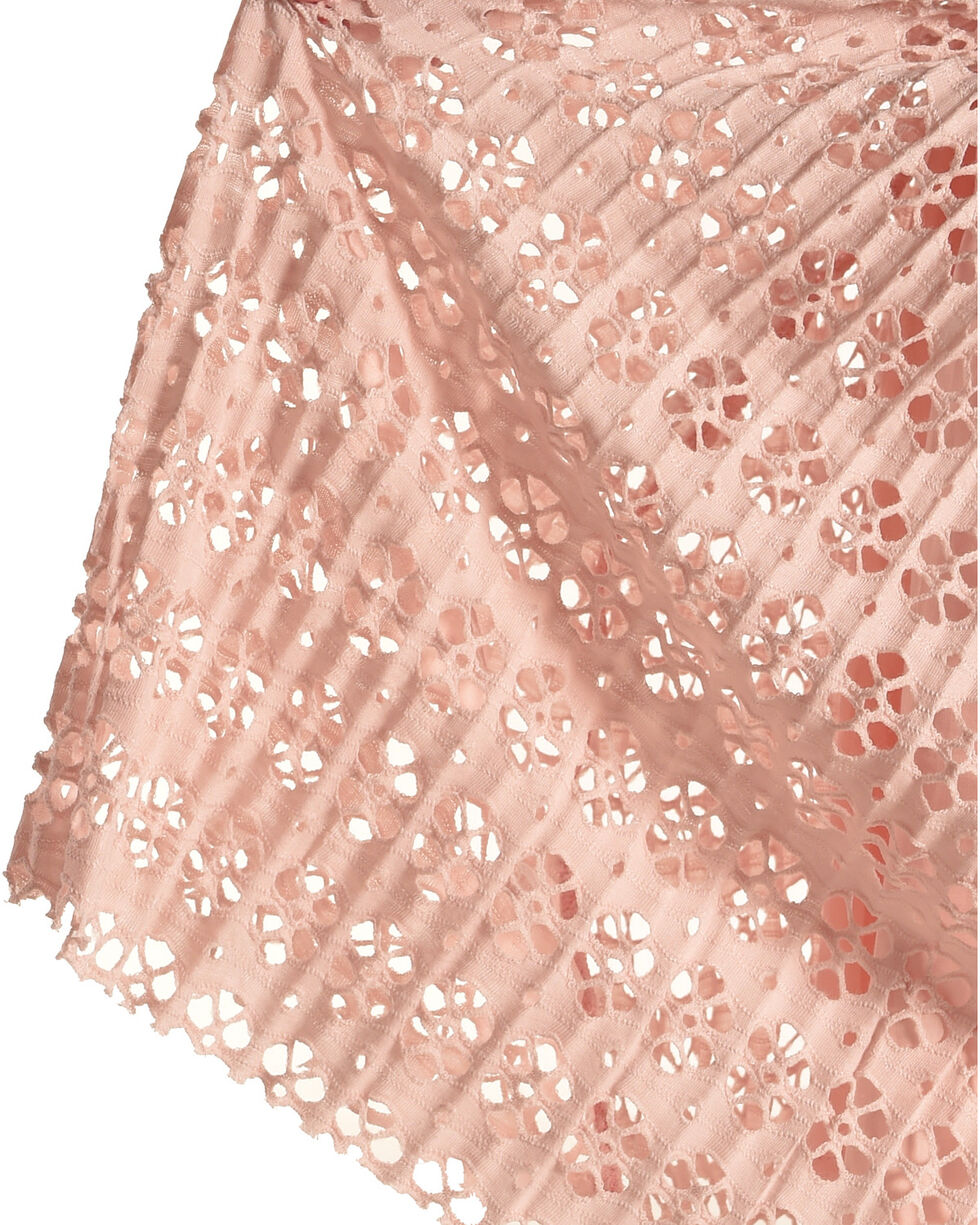 Idol Mind Girls' Pleated Laser Cut Skirt, Pink, hi-res
