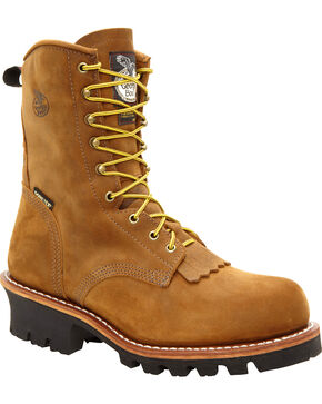 Georgia Men's Insulated Steel Toe GORE-TEX Work Boots, Saddle Tan, hi-res