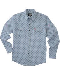 Garth Brooks Sevens by Cinch Men's Multi Blue Snaps Long Sleeve Shirt , , hi-res