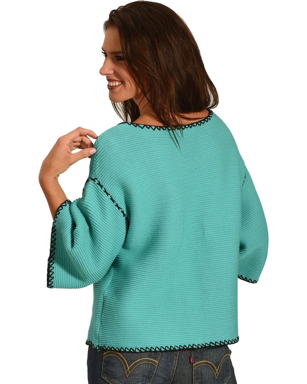 Angel Premium Women's Arizona Short Cardigan, Teal, hi-res