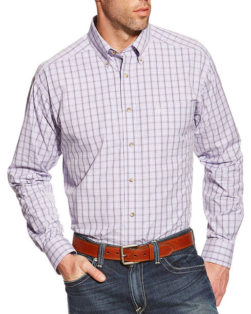 Ariat Men's Odell Long Sleeve Performance Shirt, Lavender, hi-res