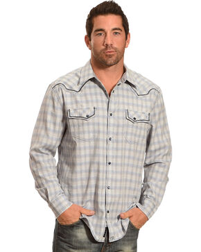 Moonshine Spirit® Men's Cat Tail Long Sleeve Shirt, Blue, hi-res