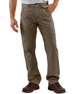 Carhartt Men's Canvas Khaki Relaxed Fit Pants, Mushroom, hi-res