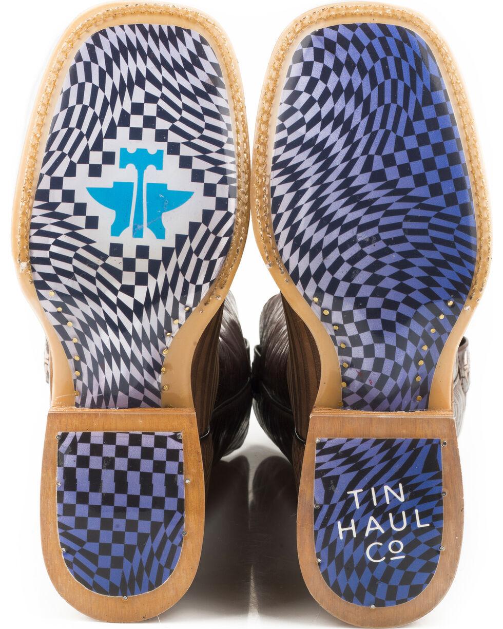Tin Haul Men's Rough Hewn Warped Sole Cowboy Boots - Square Toe, Brown, hi-res