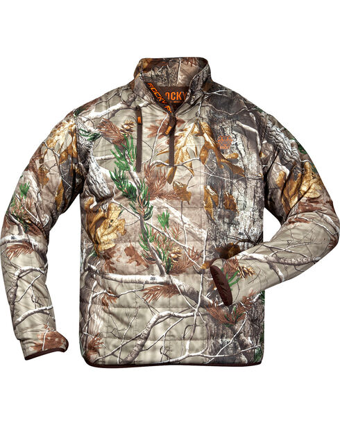 Rocky Men's Athletic Mobility Midweight Level 2 1/4 Zip Pullover, Camouflage, hi-res
