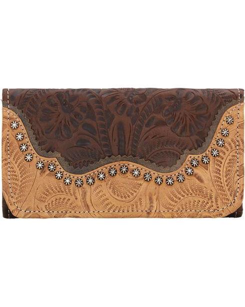 American West Women's Saddle Ridge Tri-Fold Wallet , , hi-res