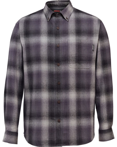 Wolverine Men's Hammond Long Sleeve Flannel Shirt , Ash, hi-res