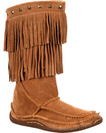 Durango Women's City Santa Fe Fringe Moccasin Boots, , hi-res