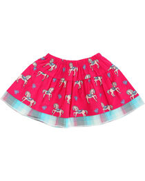 Wrangler Infant Girls' Pink Horse Print Skirt , , hi-res