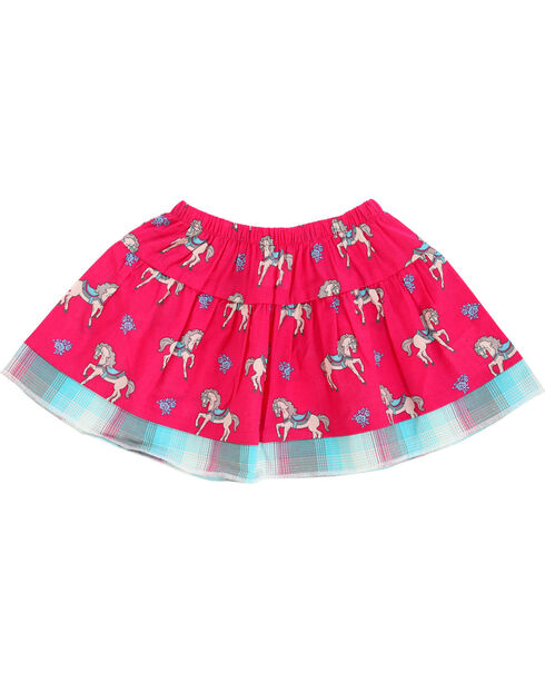 Wrangler Infant Girls' Pink Horse Print Skirt , Pink, hi-res