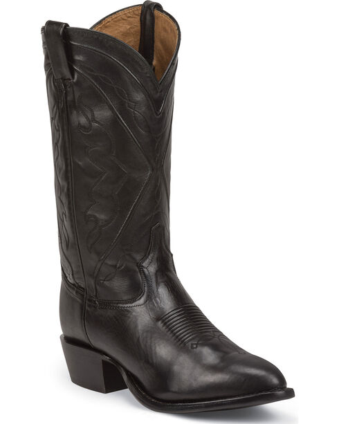Tony Lama Men's El Paso Jersey Calf Western Boots, Black, hi-res