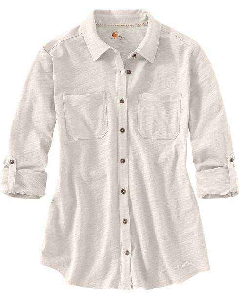 Carhartt Women's Long Sleeve Medina Shirt, Cream, hi-res