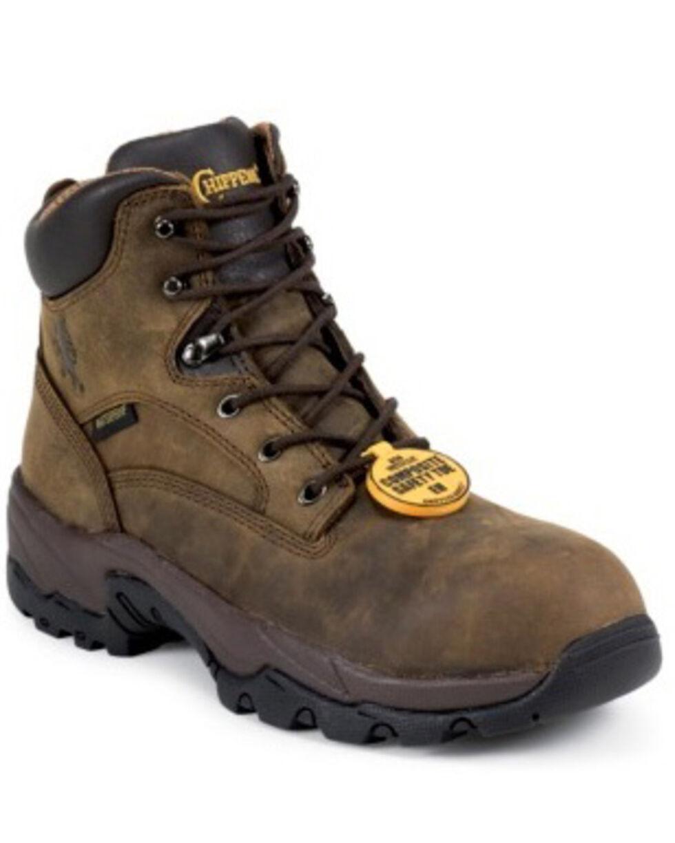 Chippewa Men's IQ Waterproof Composite Toe Work Boots, Bay Apache, hi-res