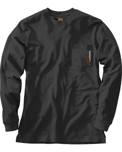 Timberland PRO Men's Base Plate Blended Long Sleeve T-Shirt, Black, hi-res