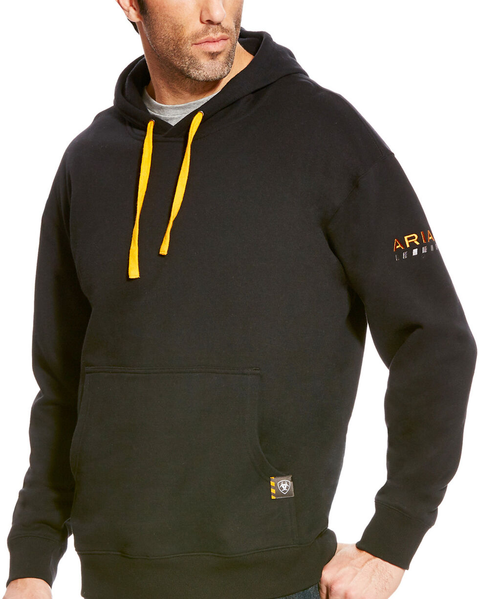 Ariat Men's Rebar Logo Hoodie , Black, hi-res