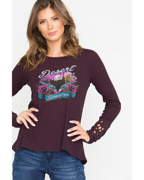 Shyanne Women's Desert Pistols Thermal Long Sleeve Shirt, Purple, hi-res