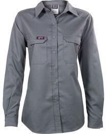 Lapco Women's Grey FR UltraSoft Uniform Shirt , , hi-res