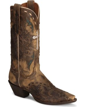 Dan Post Women's Anthem Western Boots, Tan, hi-res