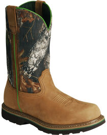 John Deere® Men's Steel Toe Mossy Oak Wellington Boots, , hi-res