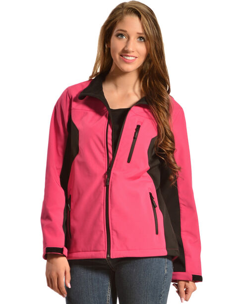 Red Ranch Women's Bonded Hot Pink Jacket, Black, hi-res