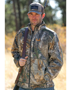Cinch Men's Realtree Xtra Camo Midweight Bonded Fleece Jacket, Camouflage, hi-res