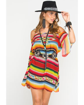 Tasha Polizzi Women's Salsa Red Serape Garcia Dress, Red, hi-res