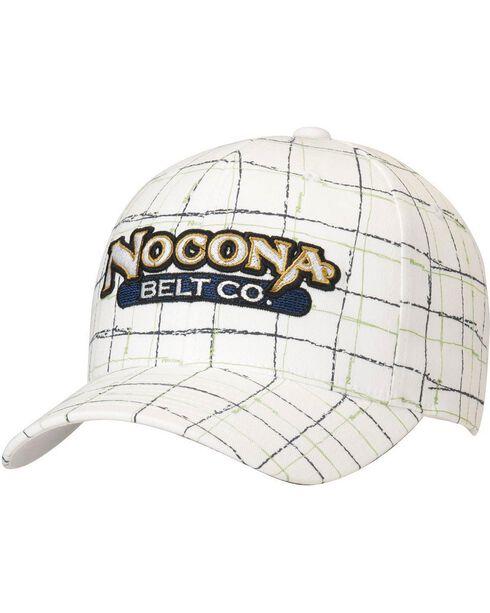 Nocona Logo Patch Plaid Cap, , hi-res