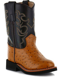 Cody James® Children's Ostrich Print Western Boots, , hi-res