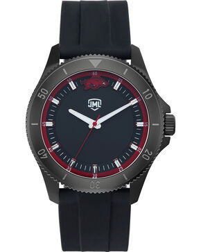 Jack Mason Men's Arkansas Blackout Silicone Watch , Black, hi-res