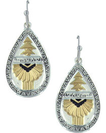Montana Silversmiths Women's Silver Southern Rays Of Light Earrings , , hi-res