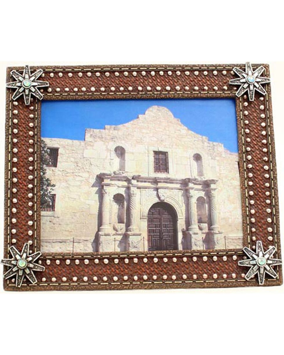 M&F Western Moments Spur Rowel Picture Frame, Brown, hi-res