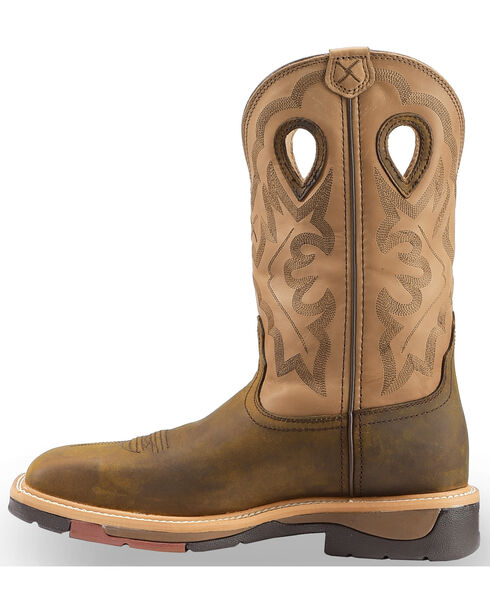 Twisted X Hazel Lite Weight Cowboy Work Boots - Steel Toe , Brown, hi-res